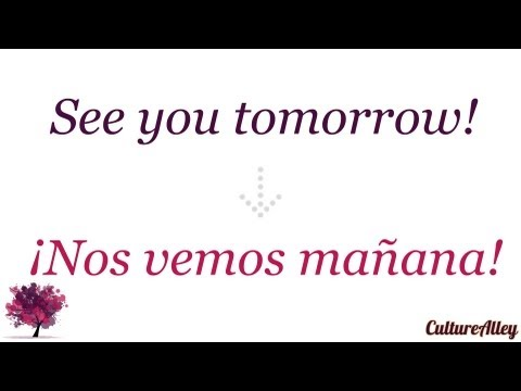 Someone will call you tomorrow in spanish