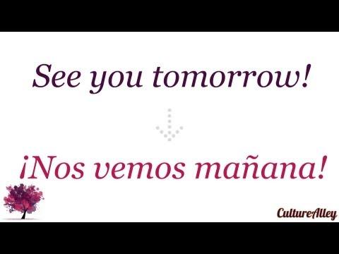 'See you tomorrow' in Spanish