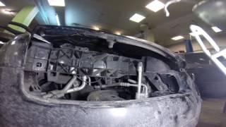 Как открыть капот Форд Фокус 2, демонтаж сигнализации Ford Focus 2