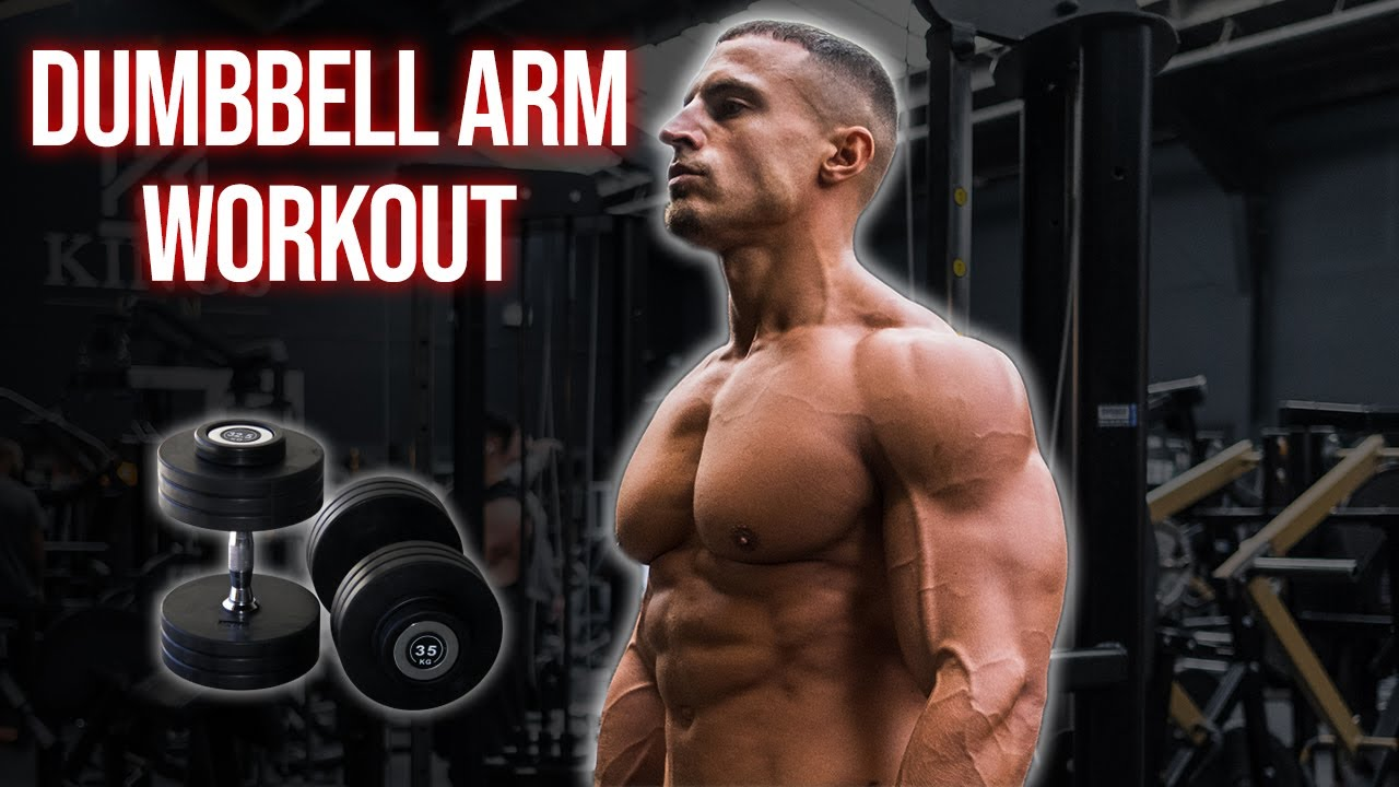 Biceps & Triceps Routine Using ONLY Dumbbells | Home Workout
