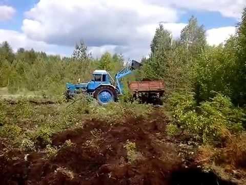 Самодельный погрузчик на заднюю навеску трактора МТЗ.