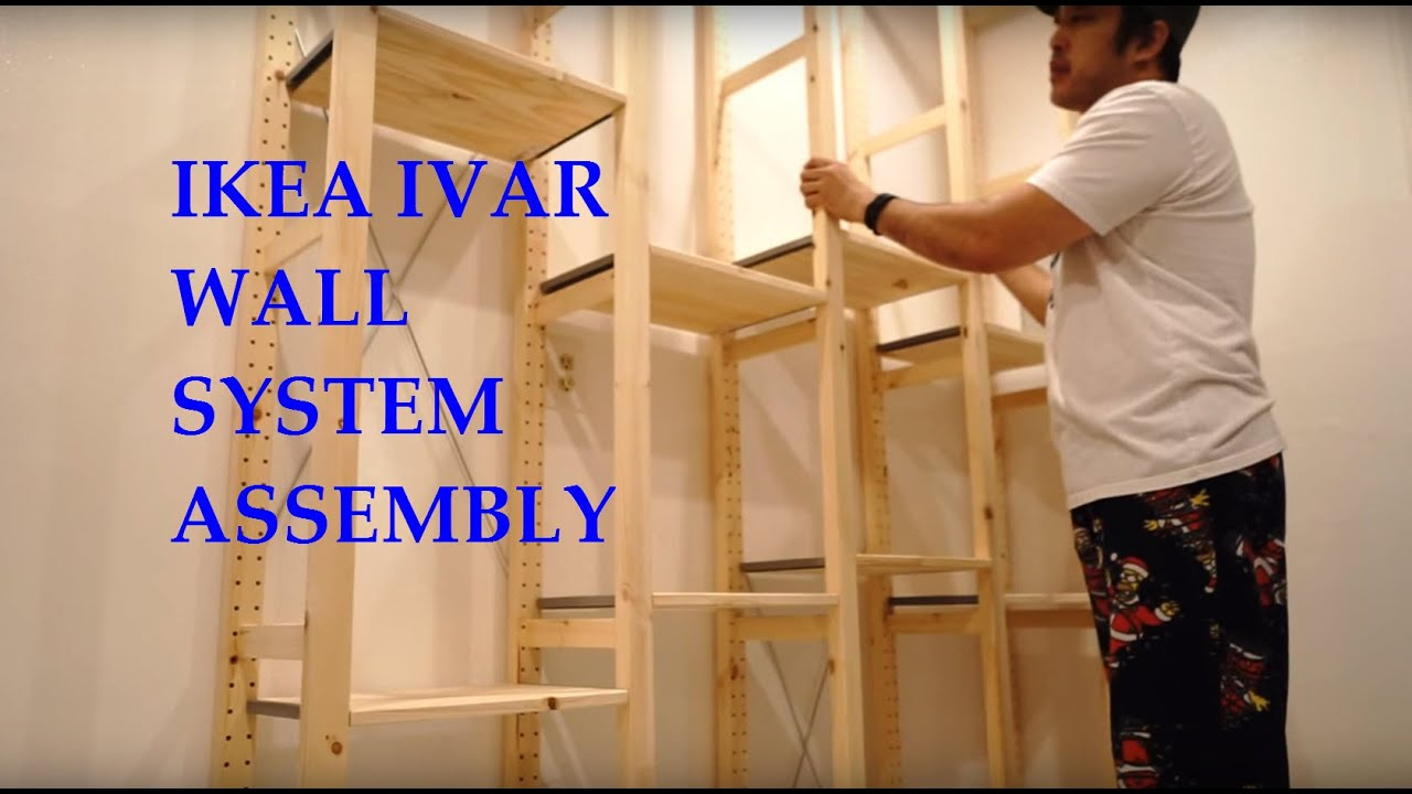 Ikea Scaffali Legno Ivar ikea ivar system shelves full assembly and review
