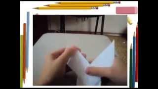как сделать оригами петух ,  как сделать петуха из бумаги