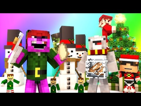 Minecraft Mini-Game : DO NOT LAUGH CHRISTMAS SPECIAL! (SANTA BURGLAR AND HULK GRINCH!) w/ Facecam