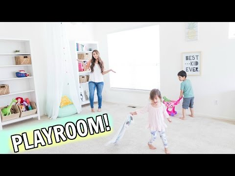 Organize & Decorate With Me! New Playroom 2017