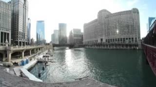 360 Video Chicago River Wells Street Bridge & Wacker Drive