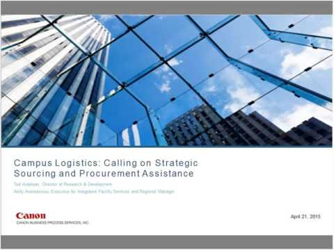 Corporate Campus Logistics Services Webcast on How Procurement Can Help Drive Down Costs