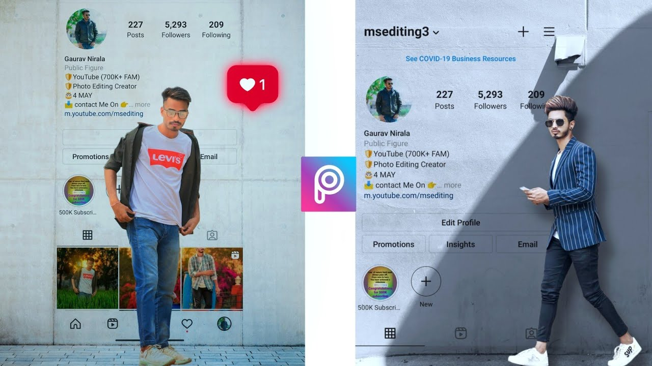 Instagram Wall  Profile Photo Editing Part - 3 | Photo Editing in Android Mobile | Photo Editing