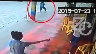 Un video registra el momento exacto  en que el  arroyo de la 21 se llevó a Luisa Osorio
