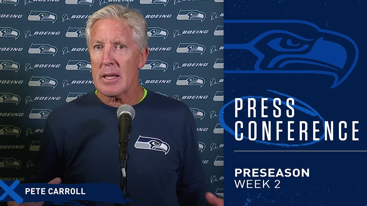 Seahawks Head Coach Pete Carroll Postgame Press Conference at Vikings