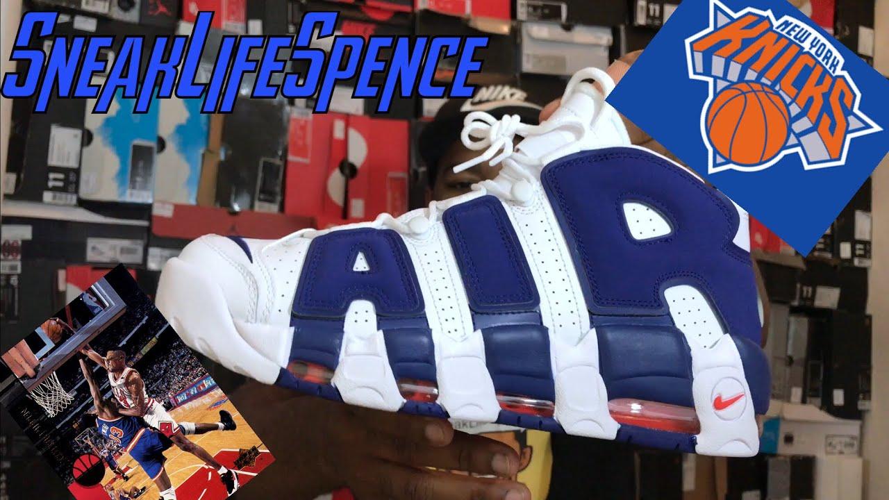 bcc47414b0e7 Nike air more uptempo KNICKS - YouTube
