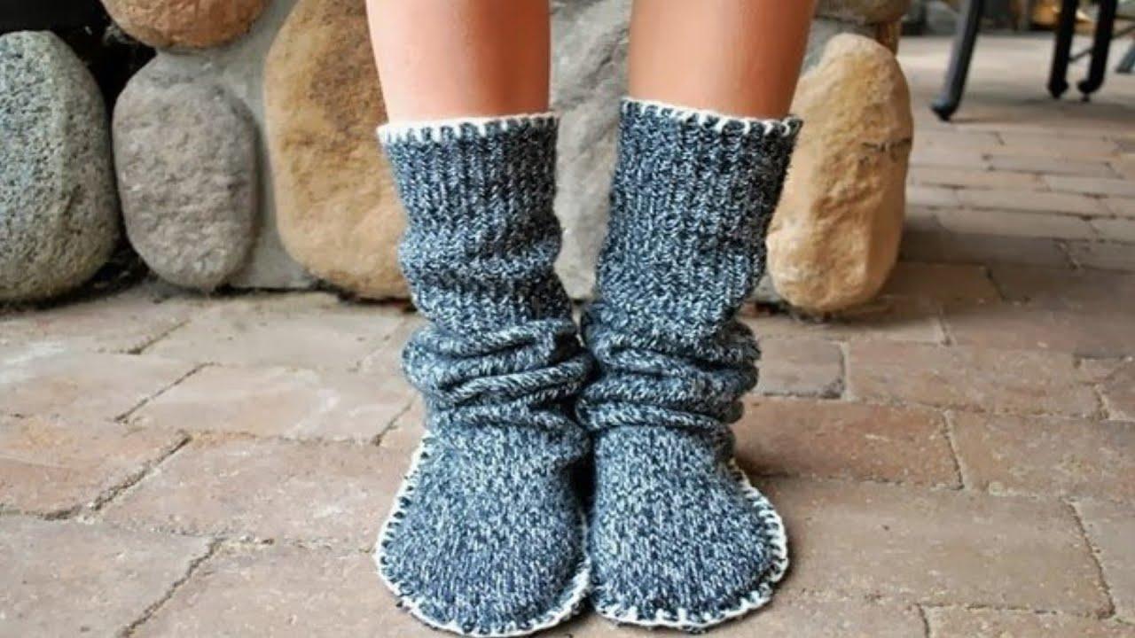 4fa7d4d353b7 Mini Project - Warm socks from old sweaters - YouTube