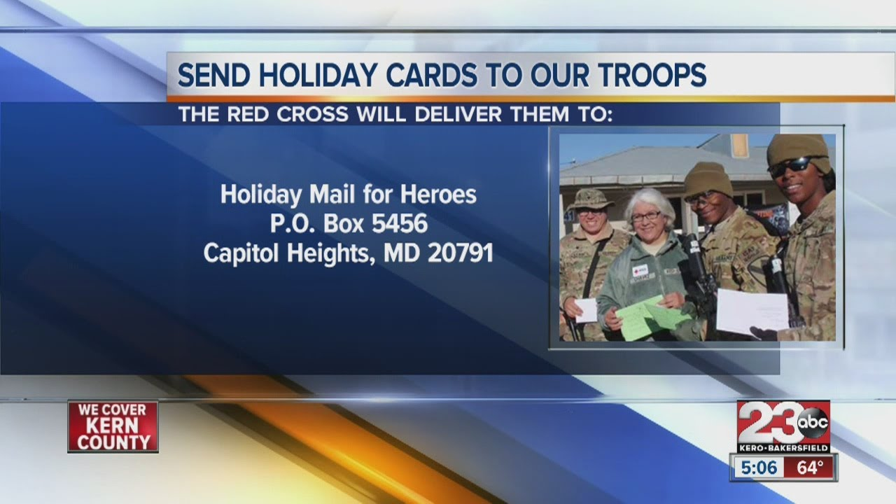 Send holiday cards to troops with the Red Cross - YouTube