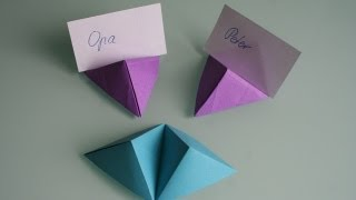 Origami Double pyramid (designed by DavidWires)