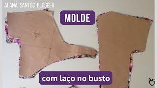 Aula do molde  vestido com laço no busto e com manga  Alana Santos Blogger