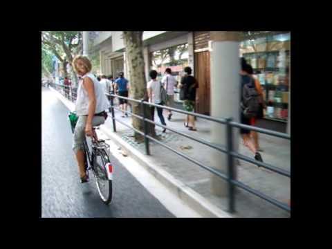 Cycling in Shanghai, China