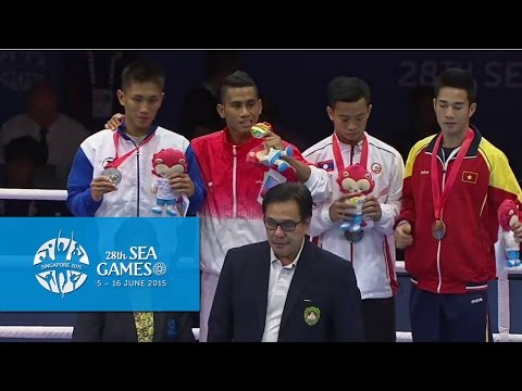 Boxing (Day 5) Men's Light Flyweight (46kg-49kg) Victory Ceremony | 28th SEA Games Singapore 2015