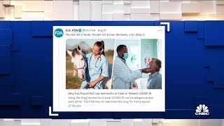 CDC warns people to avoid using animal de-worming drug to treat Covid