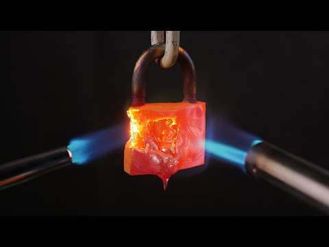 A Gas Torch VS Locks Amazing Experiment.