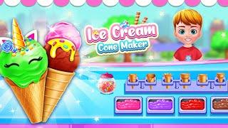 Unicorn Ice Cream Cone Maker: Frozen Dessert Game