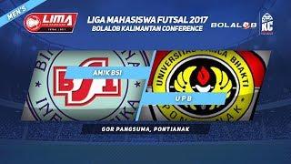 AMIK BSI VS UPB di LIMA Futsal Bolalob Kalimantan Conference 2017