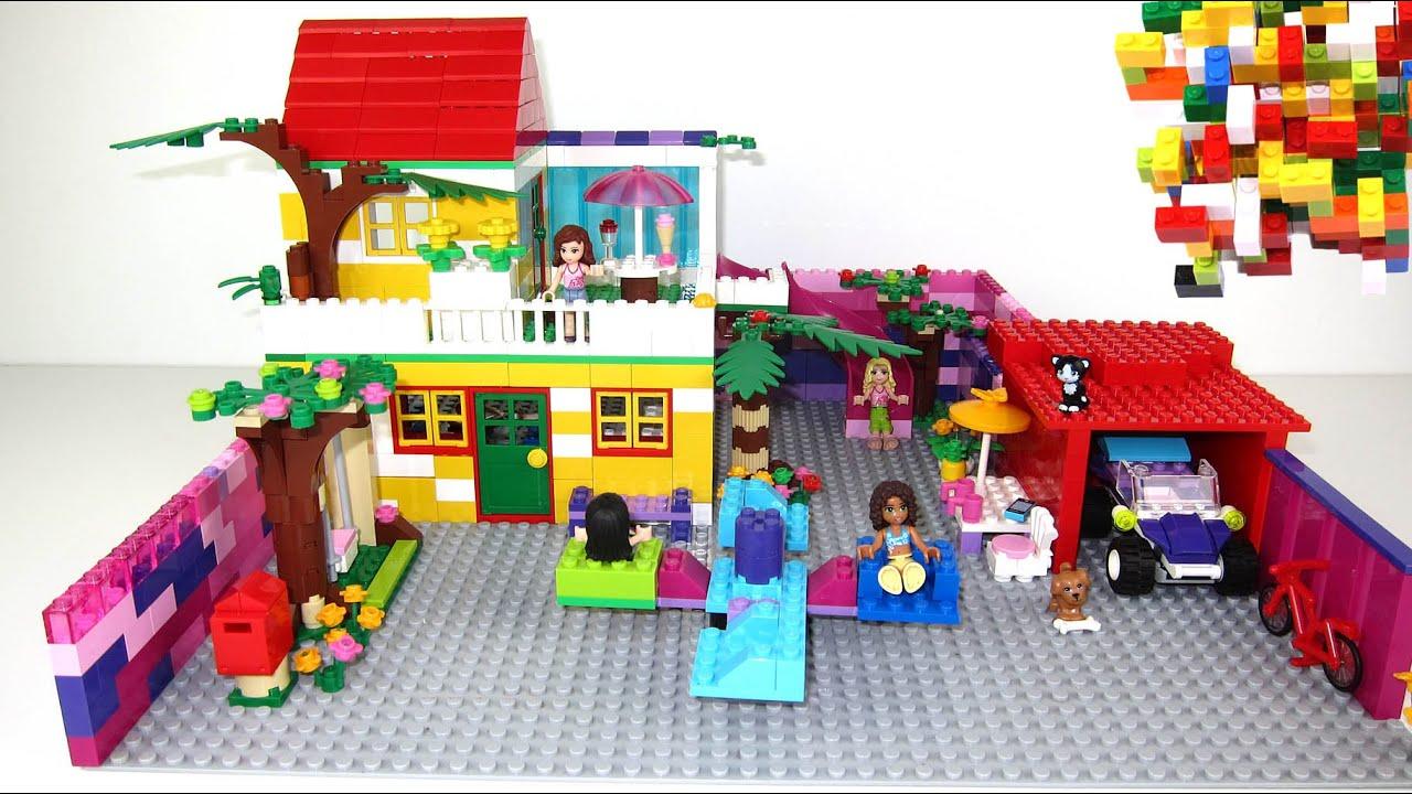 Lego friends house with slide by misty brick youtube - Lego friends casa de livi ...