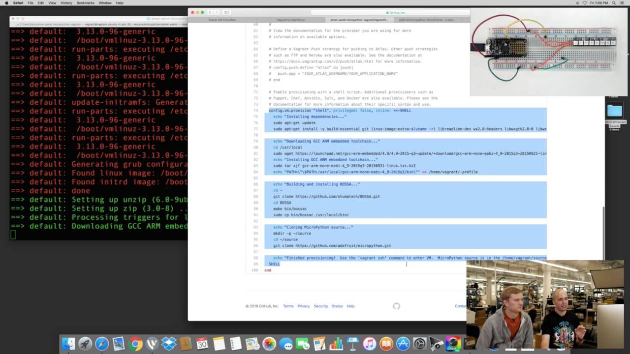 MicroPython SAMD21 Firmware Fun with Tony D and Scott! @micropython