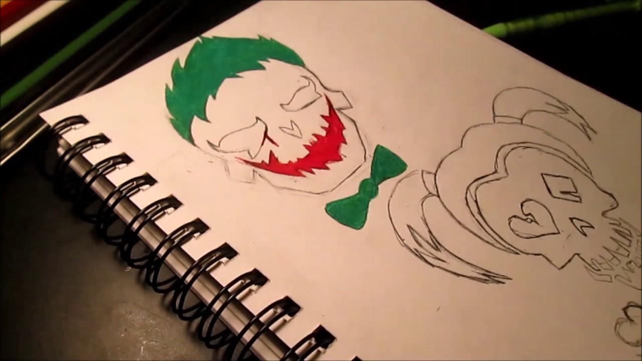 Suicide Squad Skull Harley Quinn And Joker Youtube