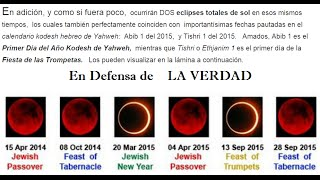 Setiembre 2015 el principio del Fin  y el año jubileo  para Ios hijos de Israel