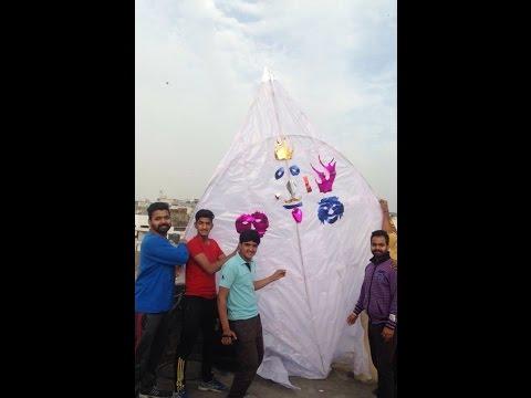 12 Feet Kite Basant , Jalandhar , Punjab , India 2016 Biggest Kite In Jalandhar Patang