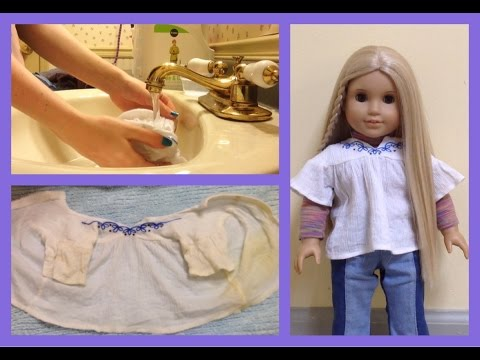 How to Wash AG Doll Clothes