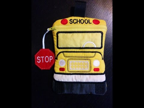 In the Hoop School Bus Zipper Bag Tutorial | ITH Machine Embroidery | Disorderly Threads