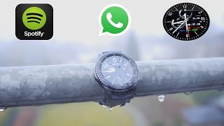 BESTE SMARTWATCH  Gear S3 mit WhatsApp!? Spotify!! TechCheck mit besten Watchface