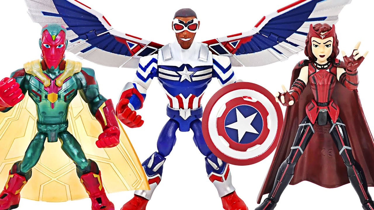Marvel Avengers Falcon Captain America, Vision, Scarlet Witch appeared!   DuDuPopTOY