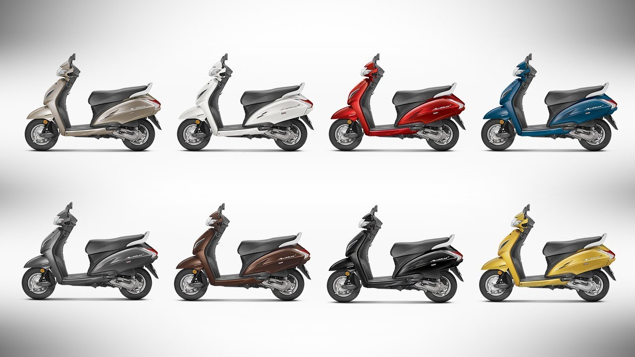 Honda Activa 5G - All Colour Options - Images | AUTOBICS