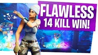FLAWLESS 14 Kill Solo WIN with 0 DAMAGE Taken! - Fortnite Battle Royale