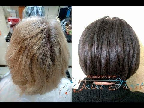 Тонирование блонда в графитовый цвет | Рецепт окрашивания волос