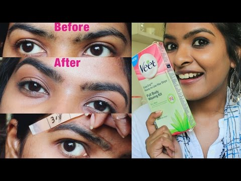 How To Wax Your Eyebrows At Home 2020 Use Veet Wax Strips To Wax