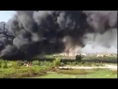 Giugliano (NA), disastro ambientale: incendio devasta deposito giudiziario con circa 300 auto