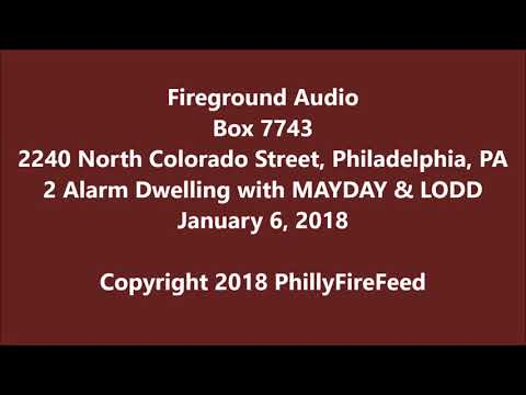 1-6-18, 2240 N Colorado St, Philadelphia, PA, 2 alarm dwelling fire with MAYDAY and LODD