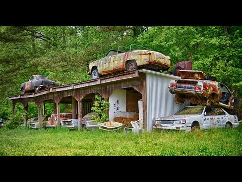 "OLD CAR HUNTING: The Insane World Of A ""HOARDER""-Dead And Buried!"