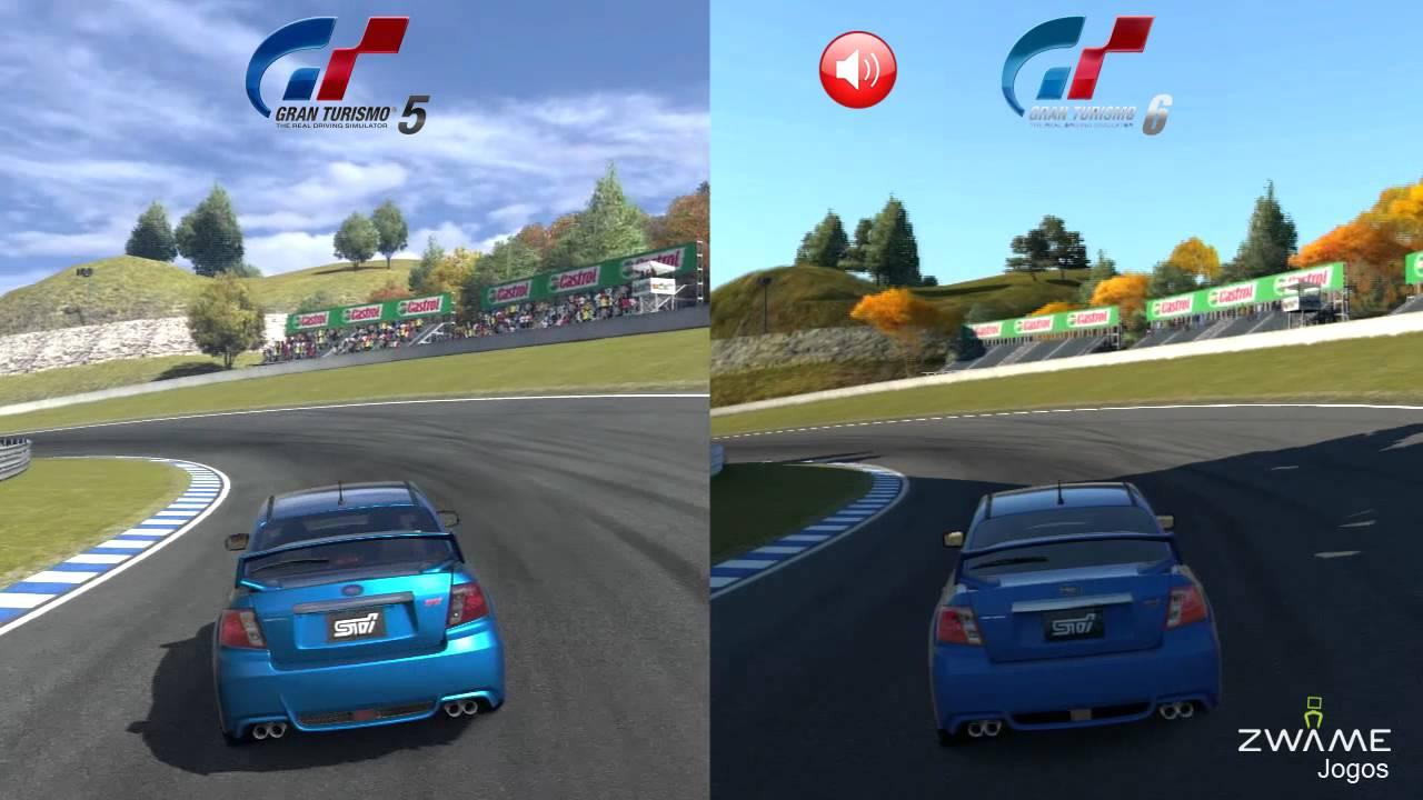 Gran Turismo 5 Vs Gran Turismo 6 Subaru Impreza Wrx Sti