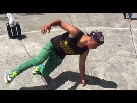 Bboy NiO K Suii (Quito.Ecuador) and Star Min(Korea), Break Dance-Taekwondo