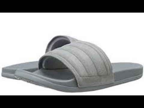 super popular 3b44f 4e03e Adidas Adilette Ultra Explorer Slides. THE MOST COMFORTABLE SLIDES!! Quick  Review + SIZING!