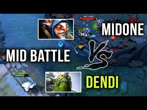 Dendi Tiny vs Midone Meepo Mid Battle of TITANS - Dota 2 thumbnail