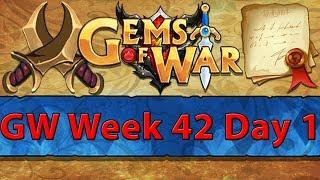 ⚔️ Gems of War Guild Wars | Week 42 Day 1 | Yao Guai Red Spam ⚔️