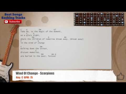 Wind Of Change - Scorpions Guitar Backing Track with chords and lyrics