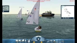 Sail Simulator 5 Racing against 5 other Laser sailors.