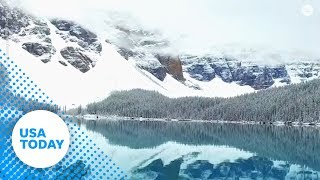 Traveling family captures breathtaking view of Canada's Moraine Lake
