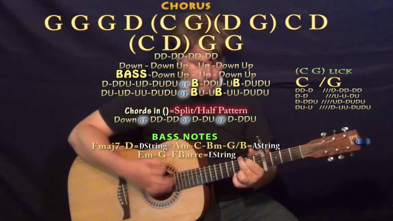 ain't no man (avett brothers) guitar lesson chord chart - capo 4th